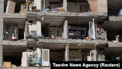 Пошкоджена землетрусом будівля у місті Сарпол-е-Захаб, Іран, 13 листопада 2017 року