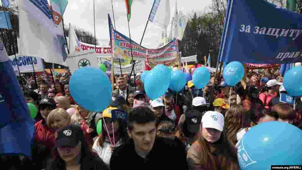 Беларус азаматтарының шеруі. Минск, 1 мамыр 2013 жыл.