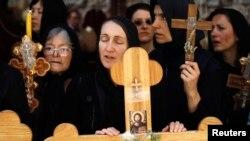Сербские верующие во время паломничества в Иерусалим