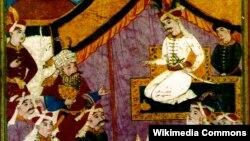 II Şah İsmayıl (sağdakı) və Məlik şah Rüstəm (soldakı)
