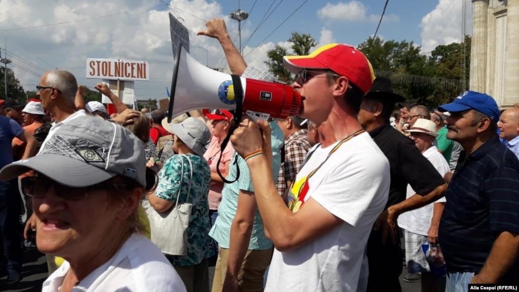 В Кишинёве протестующие потребовали отставки правительства