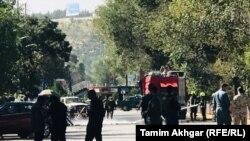 افغان امنیتي ځواکونو د دفاع وزارت د پېژنتون مخ ته له چاودنې وروسته سیمه کلابند کړې ده.