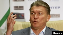 Ukraine's national soccer coach, Oleg Blokhin