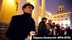 Belarusda sovet dövrü edamlarının qurbanları anılır, arxiv fotosu