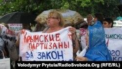 Акцыя ў абарону ўкраінскай мовы ў Сымфэропалі 07 ліпеня 2012