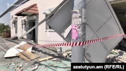 Ապակիների արտադրամասի շենքը պայթյունից հետո, Երևան, 25-ը հուլիսի, 2018թ․