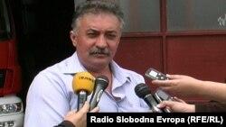 Станко Колески, командир на противпожарната единица во Прилеп.