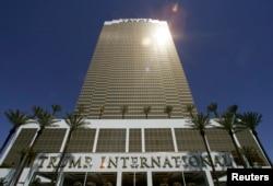 Один из отелей Дональда Трампа в Лас-Вегасе