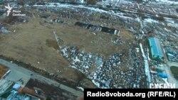 Так виглядає територія на околицях Борисполя, де заплановано будівництво бісквітного комплексу «Рошен» з висоти