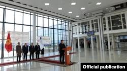 Открытие нового аэровокзального комплекса Ошского аэропорта, апрель 2017 г.