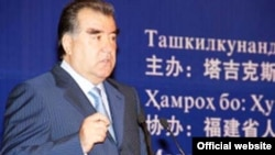 Сhina -- The president of Tajikistan, Emomali Rahmon, during his vist to China, 3Jun2012