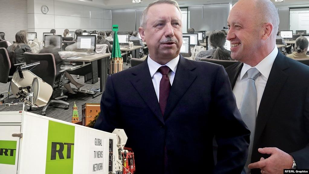Александр Беглов и Евгений Пригожин, коллаж