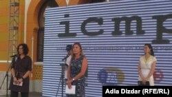 Kathryne Bomberger na obiležavanju Dana nestalih u Mostaru