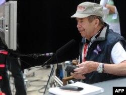 """Vaclav Havel gjatë xhirimit të filmit """"Largimi"""""""