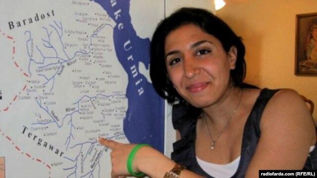 Iran -- Radio Farda journalist Denise Ajiri, winner of the 2012 MJ Bear Fellowship, presented by the Online News Association (ONA), undated