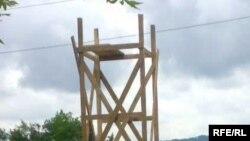 ადმინისტრაციული საზღვრის კონტროლის მიზნით რუსმა მესაზღვრეებმა სათვალთვალო კოშკის მშენებლობა დაიწყეს