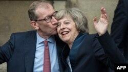 Премьер-министр Британии Тереза Мэй и ее муж – Филип Джон Мэй, Лондон, 11 июля 2016 года