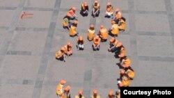 """Флешмоб под названием """"Нет коррупции!"""", проведенный гражданскими активистами в Ереване. 29 мая 2012 года."""