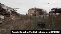 Вулиця після боїв у Станиці-Луганській, березень 2016 року