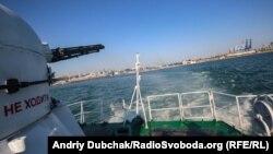Вигляд на Одесу з юту (задньої частини) корабля Морської охорони «Павло Державін»