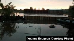 Наводнение в деревне Красный Октябрь в Иркутской области
