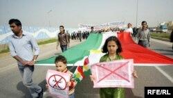 جانب من تظاهرة كرد سوريا في أربيل