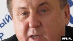 Лідер блоку «Російський фронт Шувайникова за союз із Росією» Сергій Шувайников, Сімферополь, 12 жовтня 2009 року.