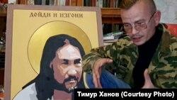 Константин Еременко у портрета Александра Габышева