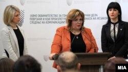 Prokurorja Speciale Katica Janeva dhe prokuroret Fatime Fetai dhe Lence Ristoska. Fotografi nga arkivi