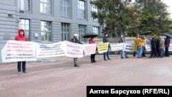 Пикет в Новосибирске против Южного обхода