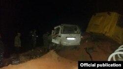 Последствия ДТП на трассе Бишкек-Ош.