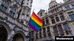 Веселковий прапор у Брюсселі