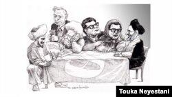 مسعود بهنود و مهمانهایش/ طرح از توکا نیستانی