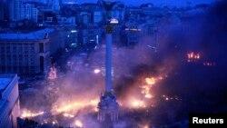 Площадь Независимости в Киеве. 19 февраля 2014 года