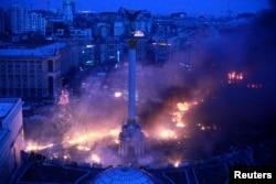 Революція гідності. Київ, майдан Незалежності, 19 лютого 2014 року