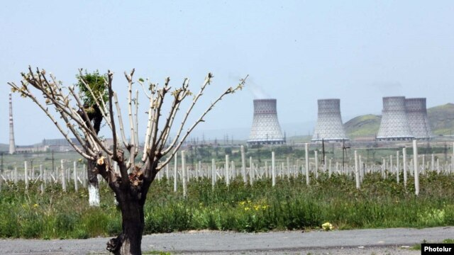 Armenia - A view of the Metsamor nuclear power plant, undated
