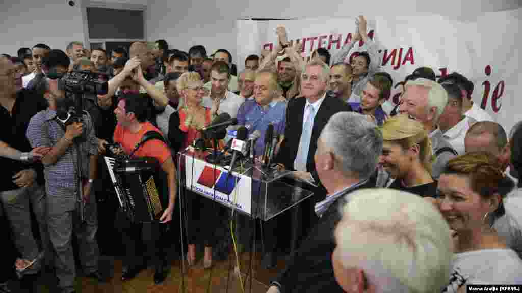"Nikolic vowed that Serbia ""will not stray from its European path."""