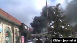 Uzbekistan - Explosion in Tashkent's Well-known Oloy market