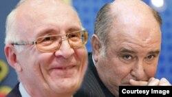 Спецпосланник премьер-министра Грузии Зураб Абашидзе (слева) и заместитель министра иностранных дел РФ Григорий Карасин