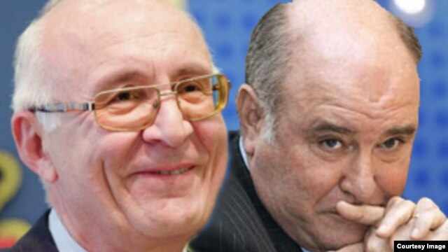 Former Georgian ambassador to Moscow Zurab Abashidze (right) and Russian deputy Foreign Minister Grigori Karasin have held a series of meetings on relations between the two countries. (file photo)