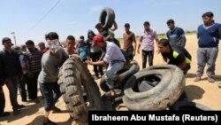 تجمع در مرز غزه ادامه دارد