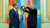 Kyrgyzstan -- Astana, Atambaev, Nazarbaev, 7 November 2014