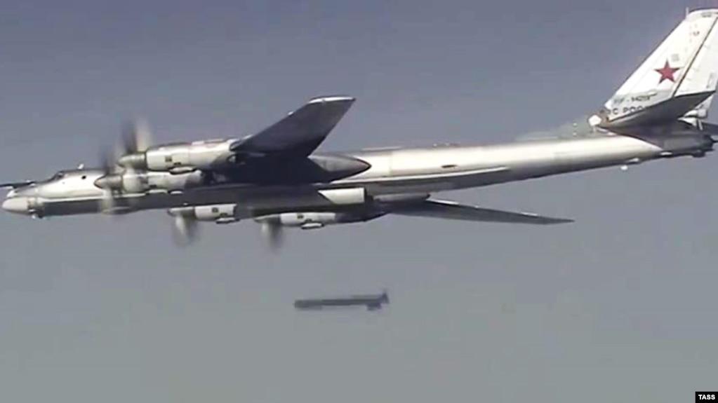 Російський бомбардувальник Ту-95 під час атаки в Сирії, ілюстративне фото