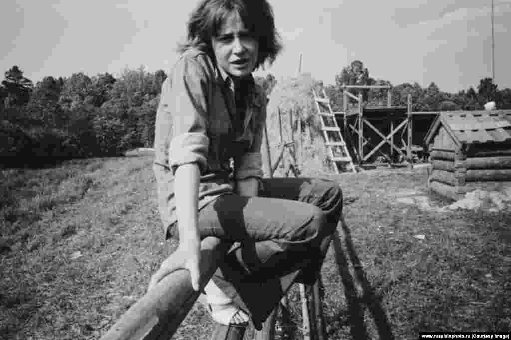 Актриса Марина Неелова на съемочной площадке фильма «С тобой и без тебя», 1973 год