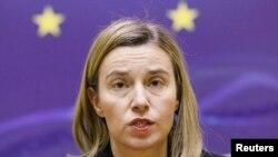 Avropa İttifaqının xarici işlər komissarı Federica Mogherini.