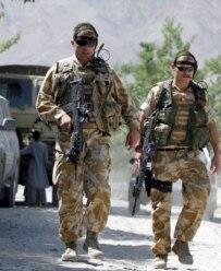 British members of the NATO-led International Security Assistance Force in Afghanistan (epa)