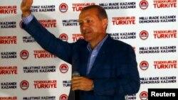 Թուրքիա - Ռեջեփ Էրդողանը տոնում է իր հաղթանակը նախագահական ընտրություններում, Անկարա, 10-ը օգոստոսի, 2014թ․
