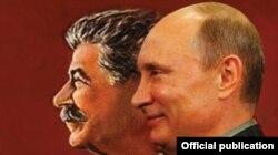 Litva jurnalında Stalin və Putin yanaşı...