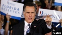 Митт Ромни на одном из предвыборных митингов
