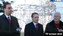 5 decembrie 2010. Marian Lupu (PD), emisarul rus Sergei Narîșkin și liderul comunist Vladimir Voronin